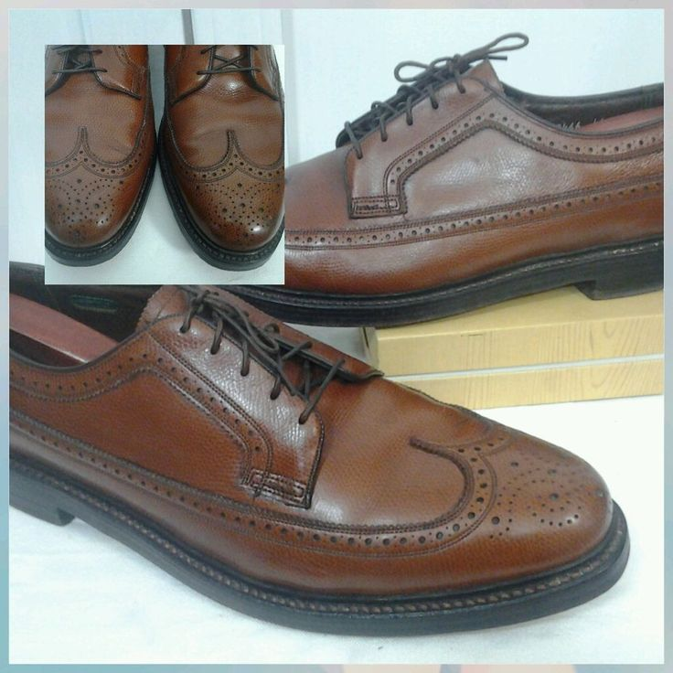 Florsheim Imperial Kenmoor Men 13D Long Wing  Cashmere Brown Shoes V Cleat 93602 | Clothing, Shoes & Accessories, Vintage, Men's Vintage Shoes | eBay!