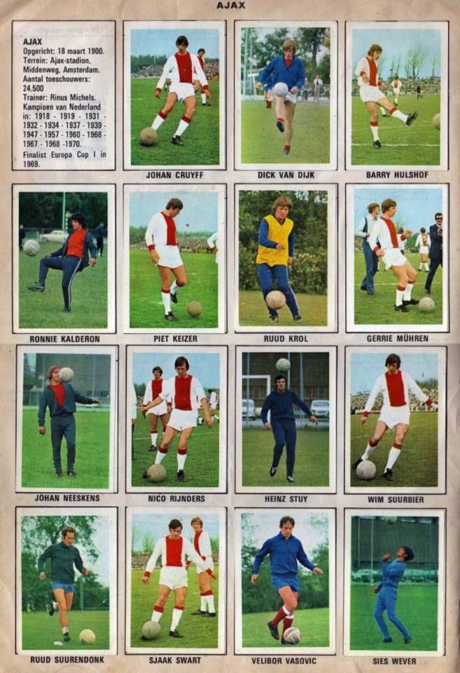 retro ajax soccer cards