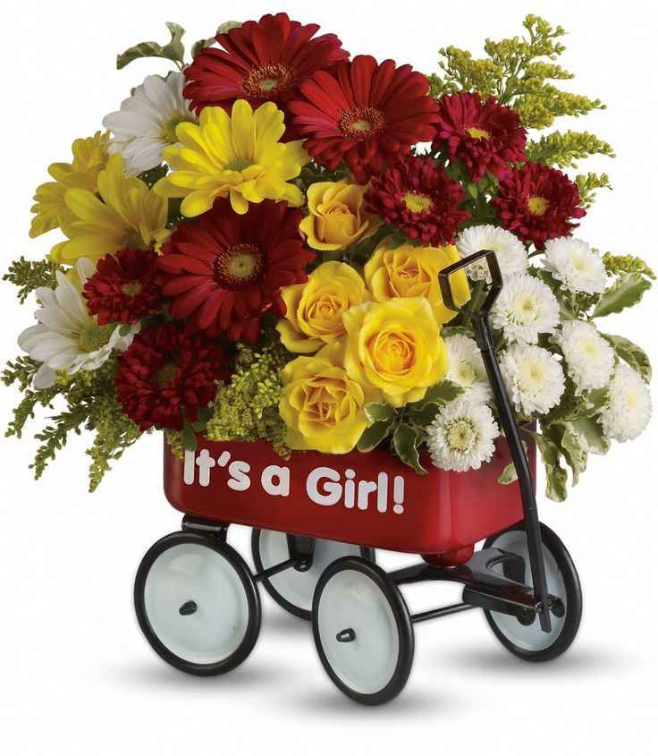 16 best new baby gift flower ideas images on pinterest flower baby girls wow wagon negle Gallery