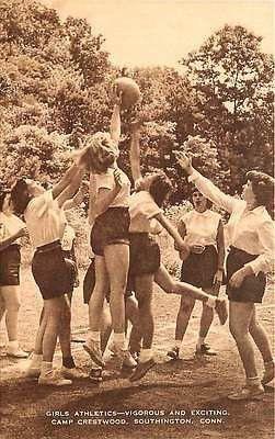 Southington Connecticut CT 1950s Girls Camp Crestwood Antique Vintage Postcard