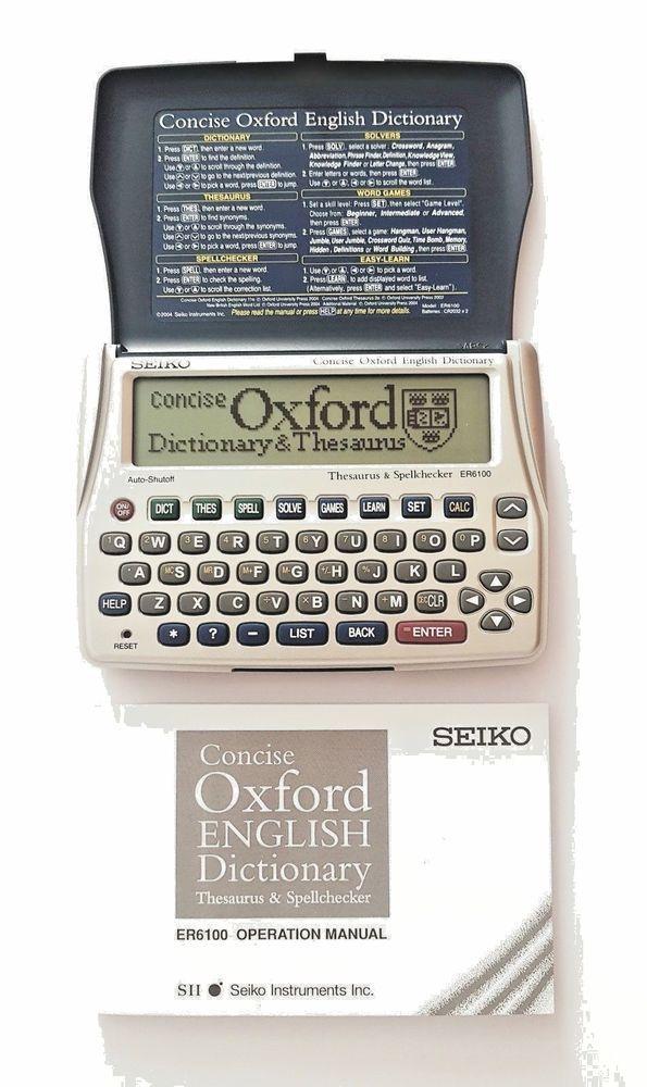 Seiko Er6100 Oxford Dictionary Thesaurus Spellchecker Crossword