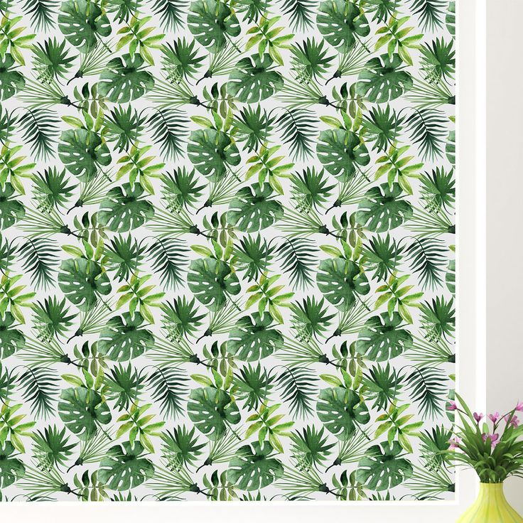 """Premium Tropical Window Film. Tropical jungle vibes design. Product Type: Window sticker and film. Overall Height - Top to Bottom: 70.86"""". Washable: Yes. Removable: Yes. Application Type: Self-adhesive.   eBay!"""