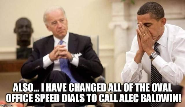 A roundup of the best memes showing Barack Obama and Joe Biden's imagined conversations about pranking Donald Trump.: Oval Office Speed Dials