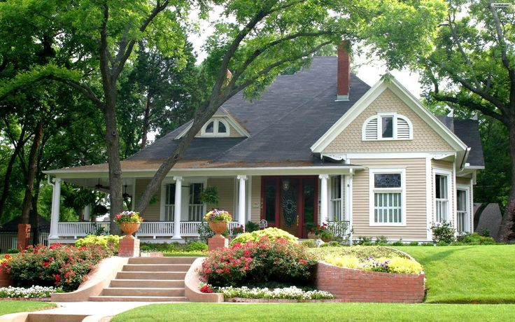 Light colored houses with porches world most beautiful - Beautiful exterior house paint colors ...