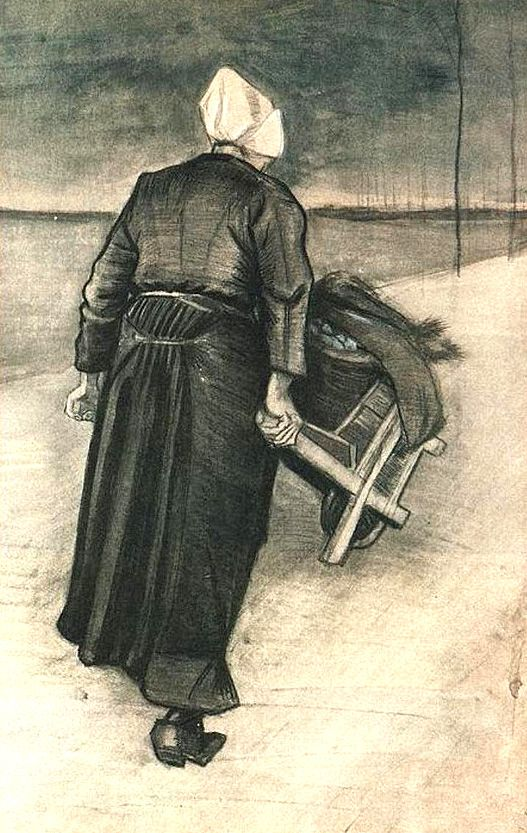 Vincent van Gogh - Scheveningen Woman with Wheeelbarrow, 1883
