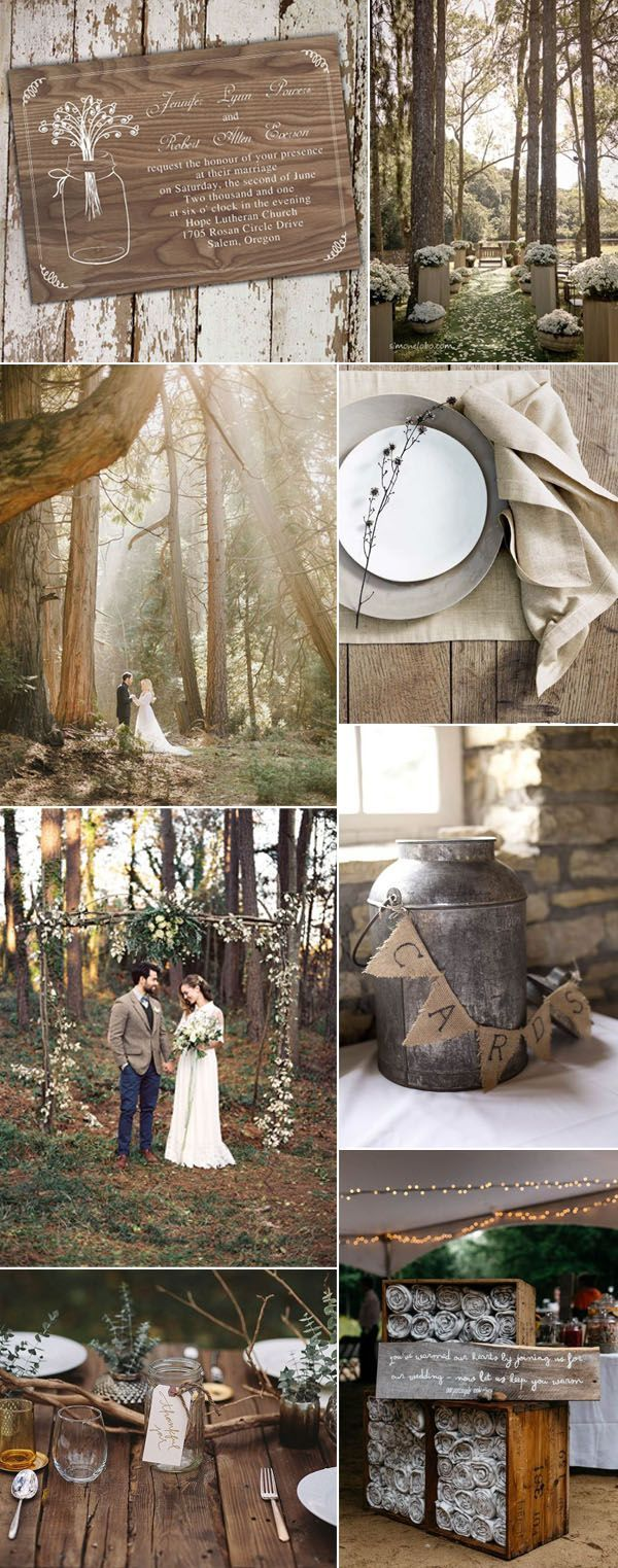 rustic woodland wedding ideas for fall weddings