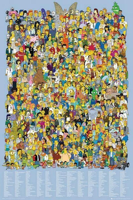 The Simpsons Cast - Maxi Poster 61cm x 91.5cm (new & sealed)