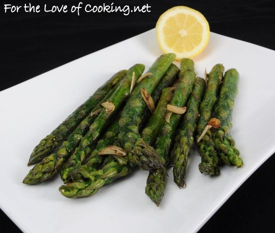 Garlicky Asparagus with a Splash of Lemon from For the Love of Cooking ...