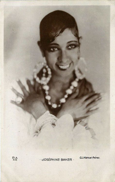 Josephine Baker-became a muse for contemporary authors, painters, designers and sculptors, including Langston Hughes, Ernest Hemingway, F. Scott Fitzgerald, Pablo Picasso, and Christian Dior.