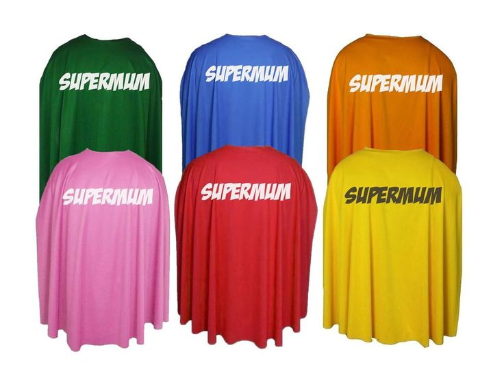 "Adults 35"" Super Mum Superhero Mothers Day Fancy Dress Cape Gift Idea"
