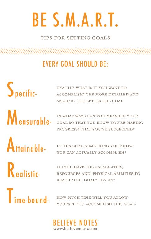 Believe Notes: Setting Goals 101 - Keeping Your Business and Personal Life on Track