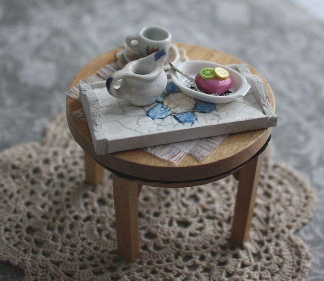 Lasituvan Miniatyyrit - Lasitupa Miniatures: DIY: Eggshell mosaic tray - munankuorimosaiikki 1/...