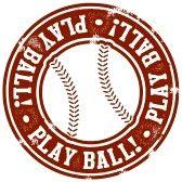 base ball : Vintage timbre de base-ball Play Ball