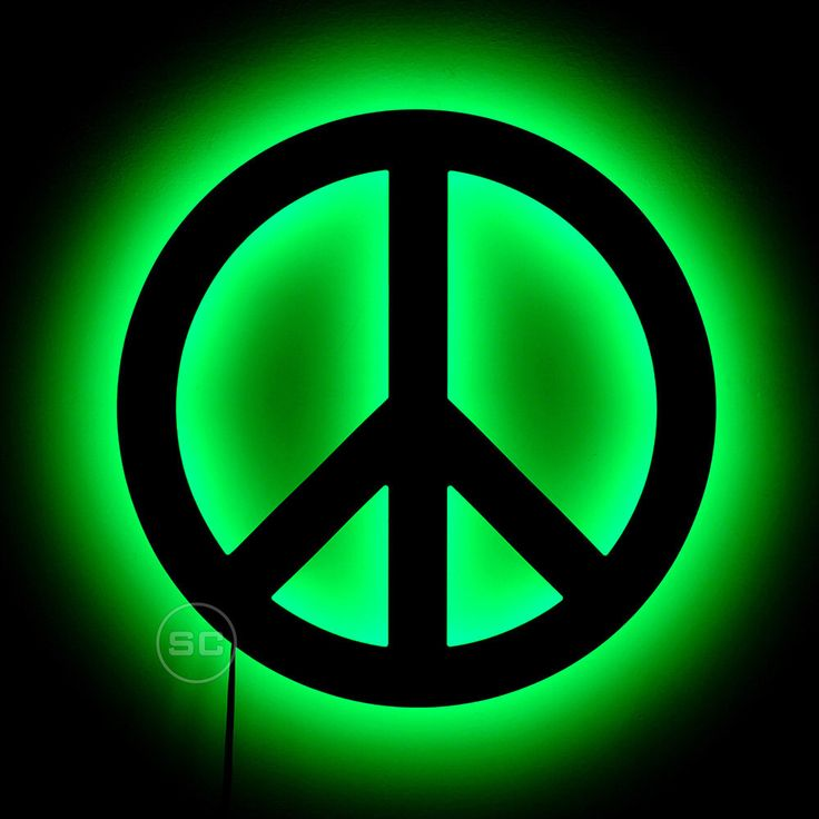 Lighted Peace Symbol Sign - LED Wall Hanging Peace Sign - Fun Peace Night Light Lamp by SignsChromatic on Etsy https://www.etsy.com/ca/listing/478218848/lighted-peace-symbol-sign-led-wall