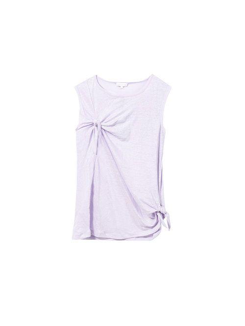 Camiseta anudada de lino