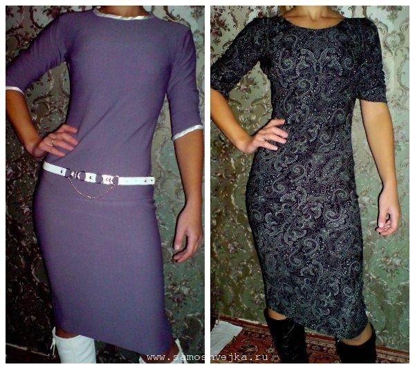 Как сшить модное трикотажное платье своими руками