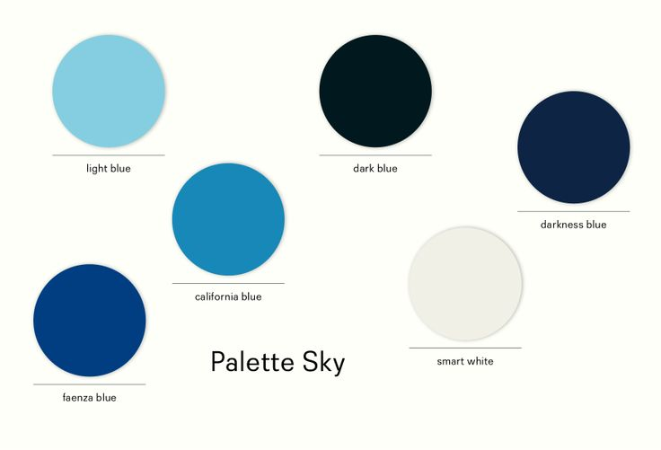 Palette #sky,  a breath of #summer in a corner of your house.