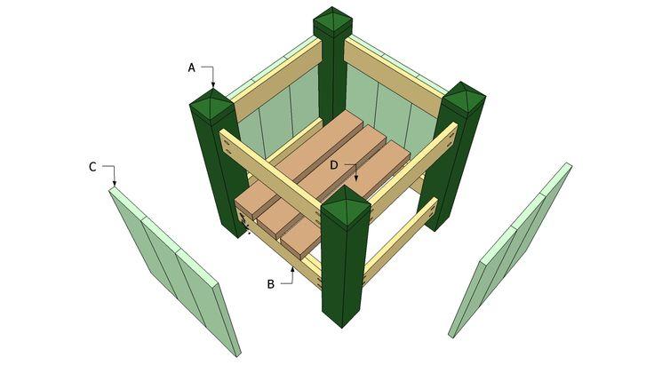 Large cedar planter box plans woodworking projects plans for Cedar garden box designs