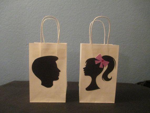 Barbie gift bagsKen gift bags10Barbie by BehindTheTheme on Etsy