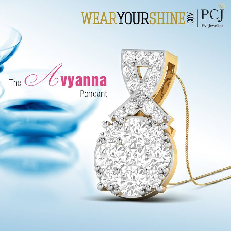 """Set a Trend with our new-arrivals.  Look out for """"The Avyanna Pendant"""" on WearYourShine  #WearYourShine #PCJeweller #Jewellery #Jewelry #IndianJewellery #WYS #PCJ #Pendant #Diamond #Love #DiamondPendant #Happy"""