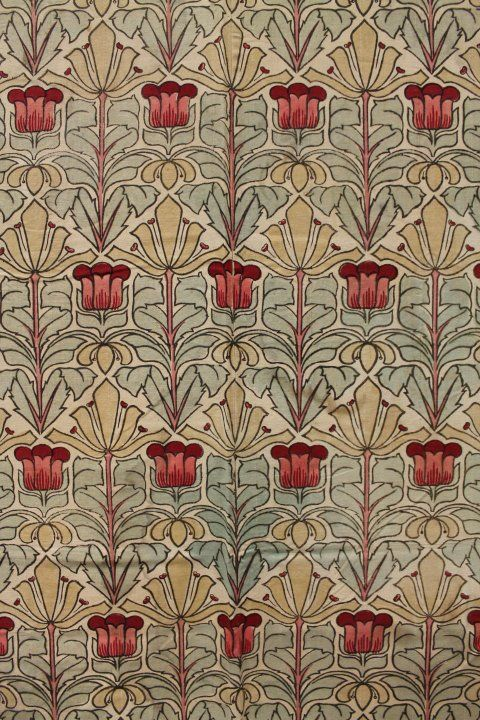 1890s Arts & Crafts William Morris Style Cotton Bed COVER