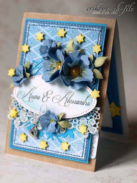 Evik, Ewa Jarlińska, Sizzix tattered Florals, Spellbinders Majestic Elements Radiant Rectangles Dies, Evik, Ewa Jarlińska, kartka ślubna, handmade wedding card, European Parliament, Perfect Pearls Mists kiwi, Parlament Europejski, Broken China Distress ink,