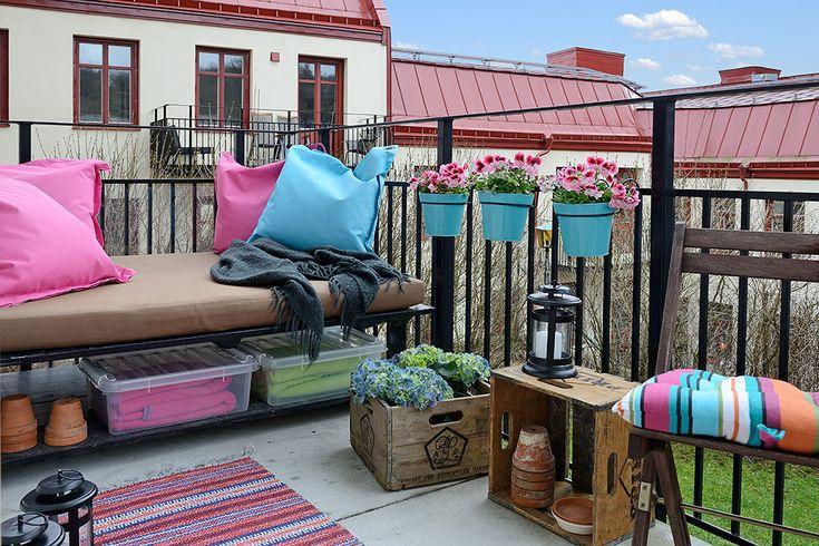 Sex kvadratmeter stor balkong i bästa läge