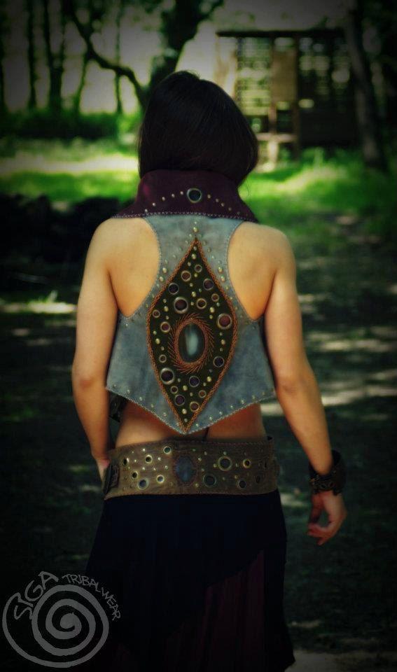 Custom Made Leather Vest Coat GYPSY Tribal Magic by SigaTribalwear, €200.00