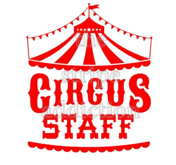 Circus Birthday Party Bundle svg, Circus Tent, Circus Staff
