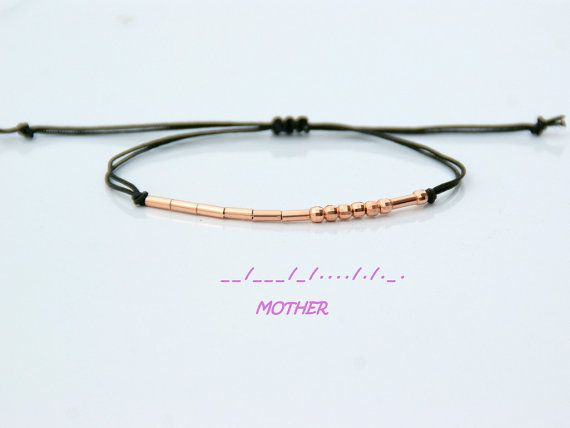 Mother Morse Code Bracelet-Mother Bracelet-Mother's Day
