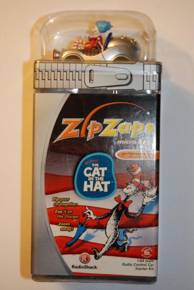 ZIP ZAPS Dr. Seuss The Cat in the Hat Micro RC Kit RadioShack Scale 1:64 Toy Car #ZipZaps