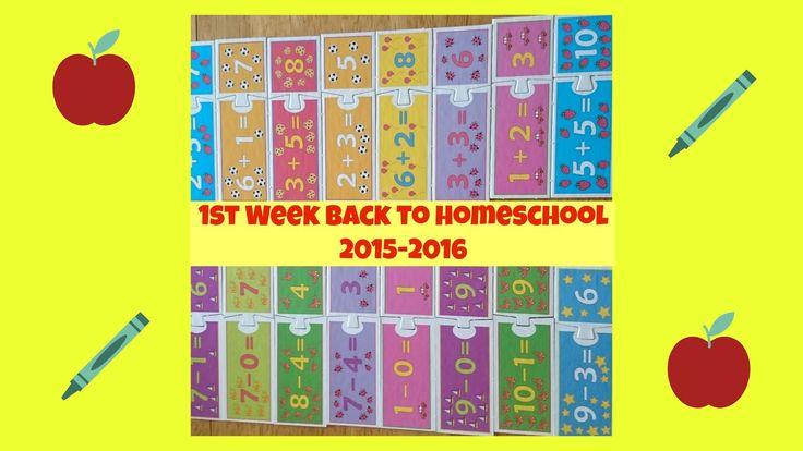 Raising Samuels Homeschool: 1st Week Back to Homeschool (2015-2016)