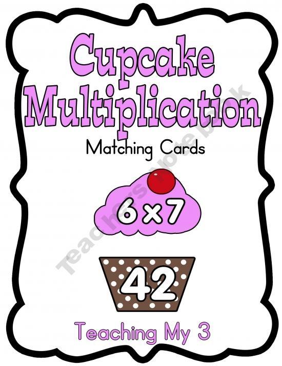 Cupcake Multiplication Cards