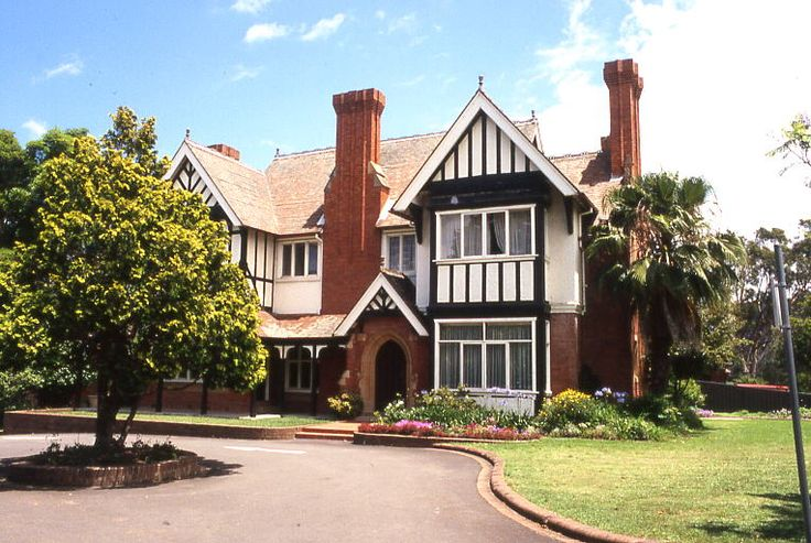 Tudor styled 'West Maling', Queen Anne Federation home, 663-665 King Georges Road Penshurst, Sydney This style was also called Tudor revival