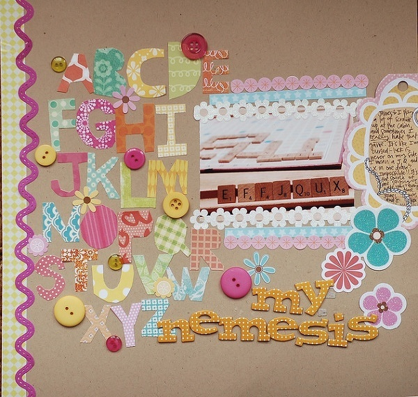 if in doubt, do a layout about scrabble.  (only partially kidding.)Photos Scrapbook, Scrapbook Ideas, Scrapbook Inspiration, Racó Scrapbook, Scrapbook Stuff, Scrapbook Layout, Scrapbook Gallery, Scrapbooking 3