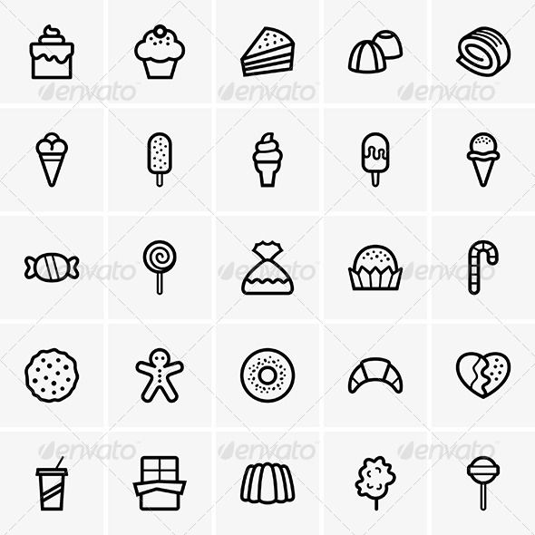 Sweets Icons  #GraphicRiver