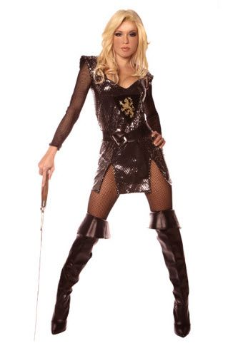 Lady Knight Sexy Adult Costume,$61.99