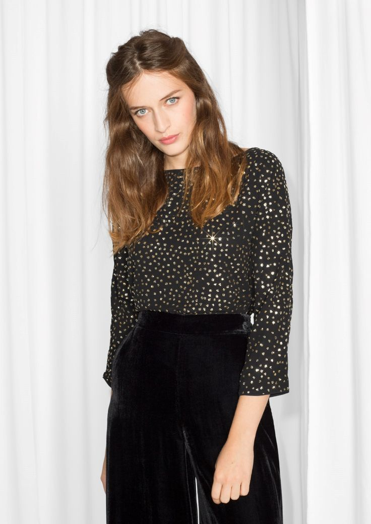 & Other Stories image 2 of Sparkle Blouse in Black