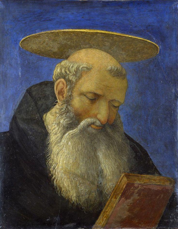 Блог Николая Подосокорского 21+ - Британская Национальная галерея (National Gallery, London).  Domenico Veneziano - Head of a Tonsured, Bearded Saint.
