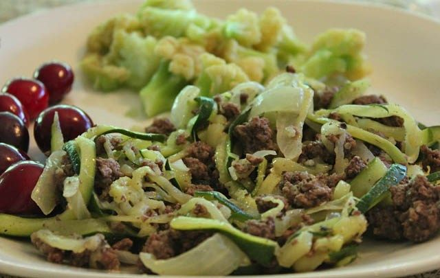 grain free ground beef skillet Beef and Zucchini Skillet