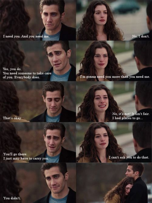 Love and other drugs... Totally bawled me eyes out during this one.