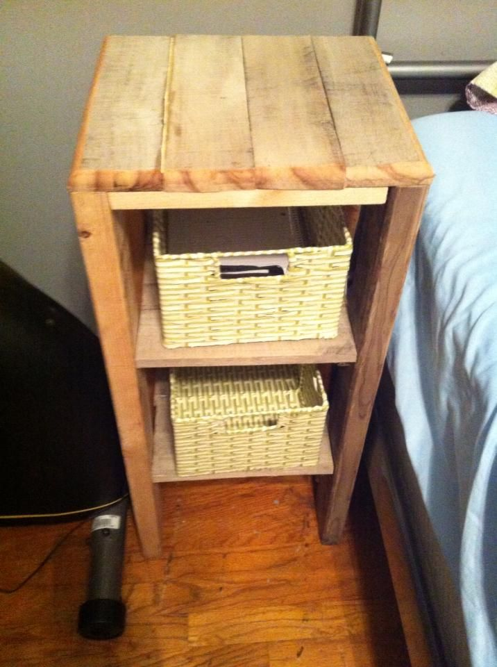 Best 25 Pallet Night Stands Ideas On Pinterest How To