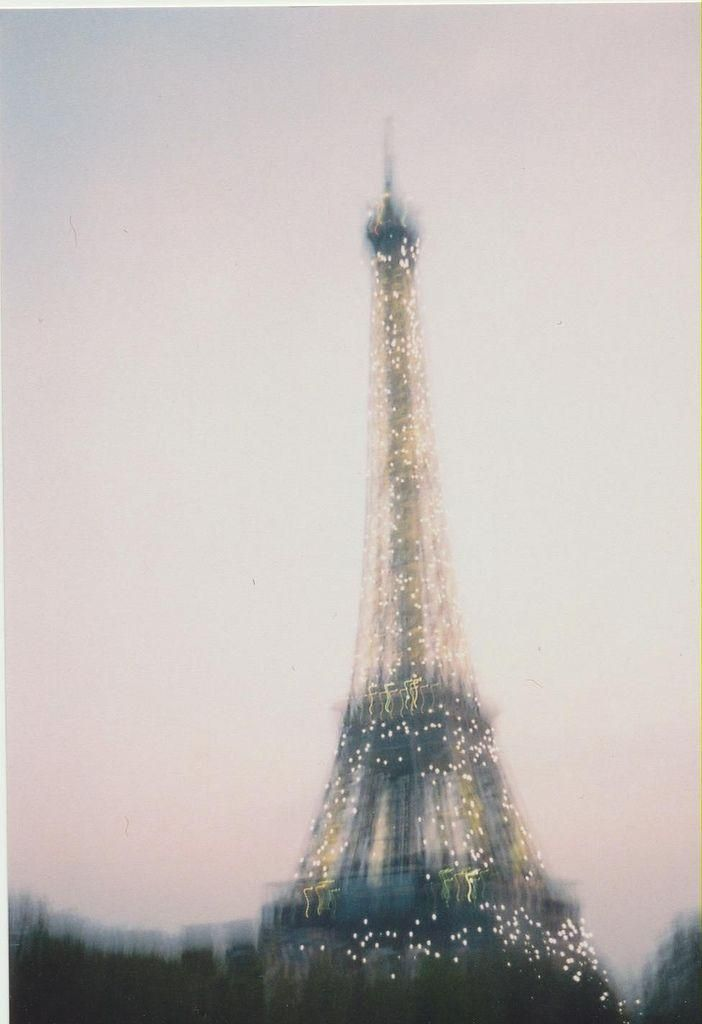 Eiffel Tower in the rain.