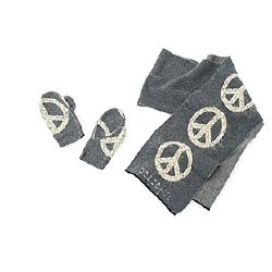 Ralph Lauren peace symbol cotton scarf and mittens.  Crafted from rescued scraps.: Lauren Peace, Rescue Scrap, Ralph Lauren, Cotton Scarfs, Peace Symbols, Fashion Fun, Symbols Cotton