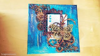 Scrapimensions: Steampunky butterfly canvas
