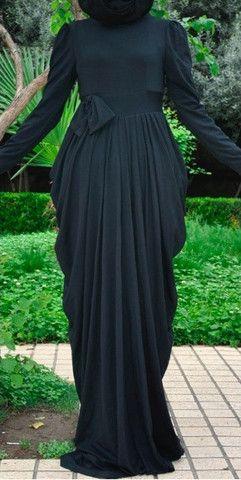Black abaya dress.