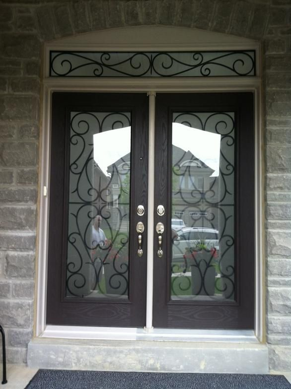 17 Best Images About Wrought Iron Door Inserts On