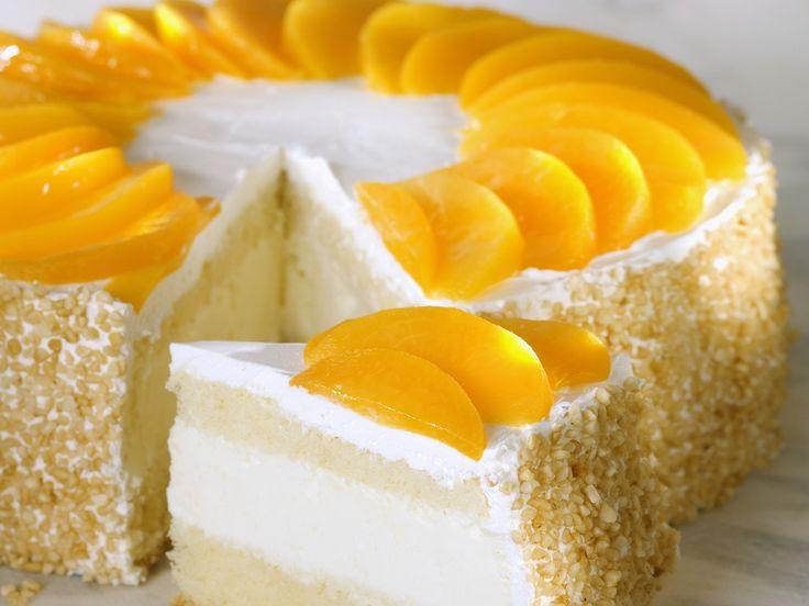Quark-Pfirsich-Torte