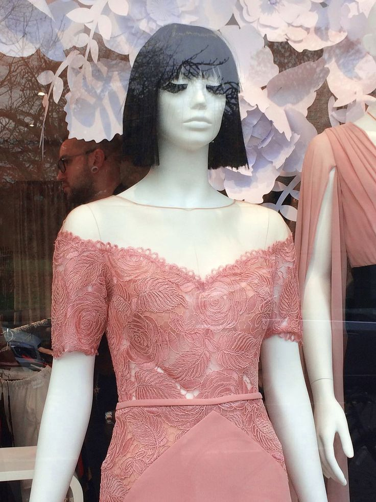 DEBRA Window Display, beautiful and romantic / ONE Collection by More Mannequins #FemaleMannequins #flowers