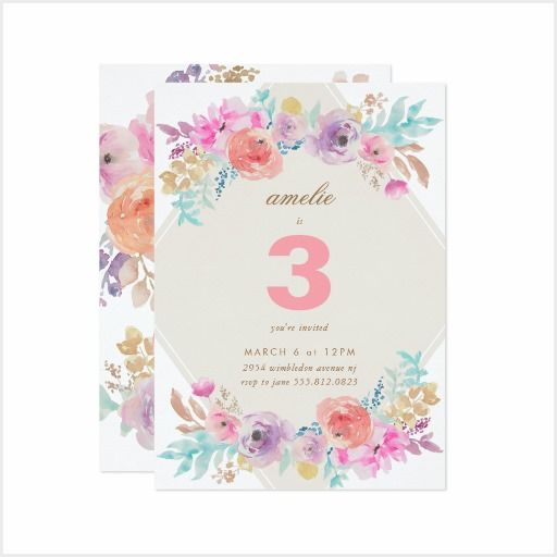 Kids Birthday zazzle, watercolor, florals, kiddies, children, parties